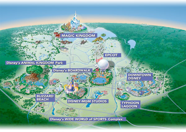 Mapa do Complexo da Disney