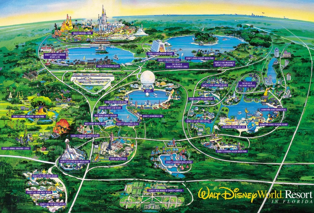 Mapa Downtown Disney