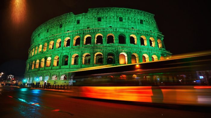 COLOSSEUM IN ROME JOINS TOURISM IRELAND'S GLOBAL GREENING